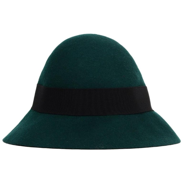 Stella McCartney Green Wool Hat NWT Sz 58 For Sale