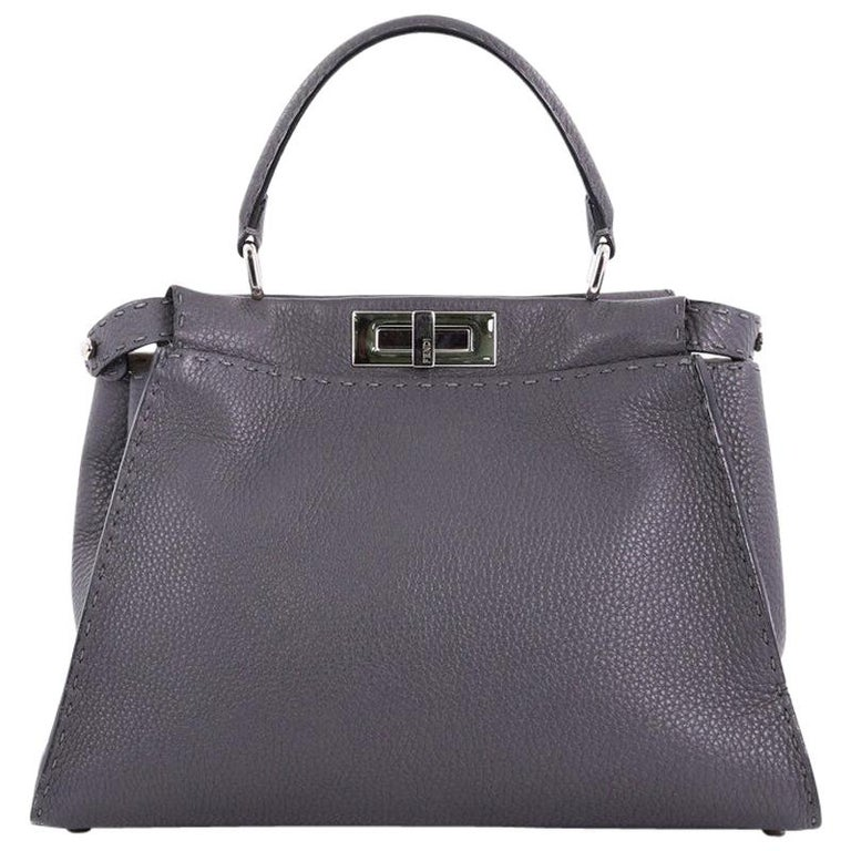 7fe8db98dcce71 Fendi Selleria Peekaboo Handbag Leather Regular at 1stdibs