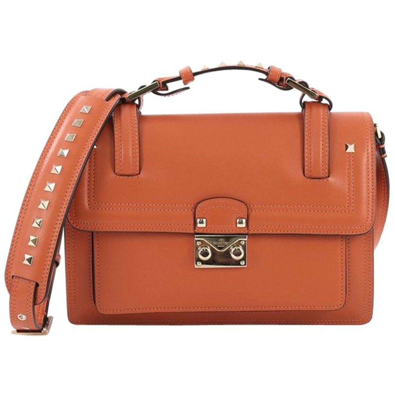 7ffcad16e3 Valentino Cabana Top Handle Flap Bag Leather Medium at 1stdibs