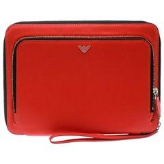 Emporio Armani Coral Orange Leather iPad Case
