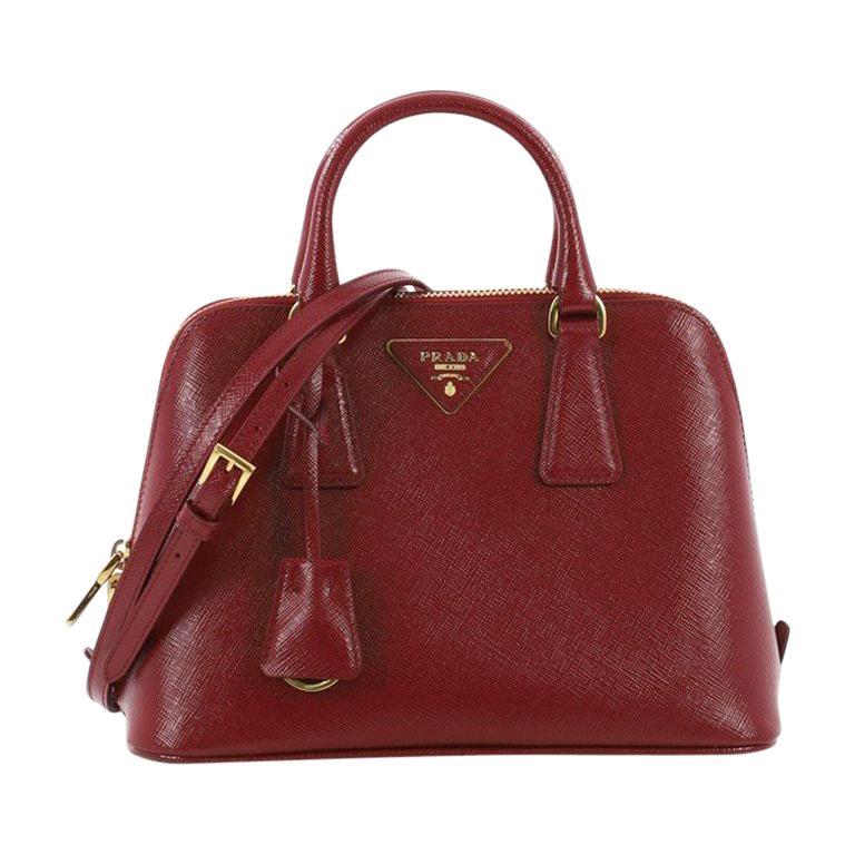 e297bf62268c Prada Promenade Handbag Vernice Saffiano Leather Small For Sale at 1stdibs