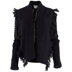 Christian Dior Boutique Vintage Black Cut Out Cardigan US 12