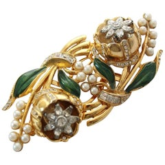 1930s / 40s Coro Doublette Tremblant Brooch