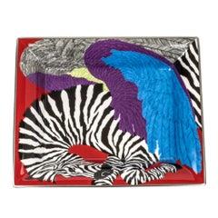 Hermes Change Tray Zebra Pegasus Limoges Porcelain Rare Print
