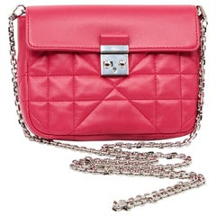 CHRISTIAN DIOR Wallet On Chain Miss Dior Bag in Quilted Soft Pink Leather