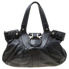 Salvatore Ferragamo Black Leather Satchel