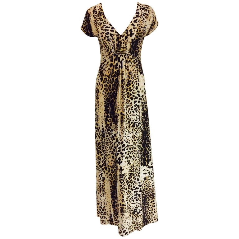 d98ac86a79aa Radiant Roberto Cavalli's Leopard Print Inspired Informal Long Dress For  Sale