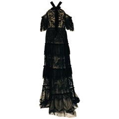 Noticeable Needle & Thread Black Tulle Andromeda Galaxy Embroided Gown