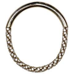 Nina Ricci Goldtone Crystal Choker Necklace