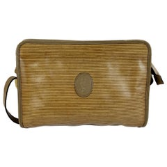 1980s Yves Saint Laurent Brown Canvas and Leather Crossbody Bag