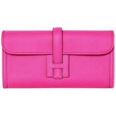 Hermes Magnolia Swift Leather Jige Elan 29 Clutch Bag