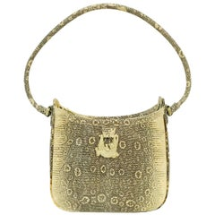 Barry Kieselstein-Cord Ring Lizard Shoulder Bag With Alligator Embellishment