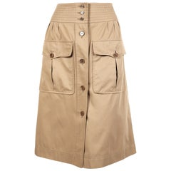 1970's YVES SAINT LAURENT khaki safari skirt