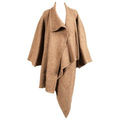 1984 ISSEY MIYAKE draped wool cocoon runway coat