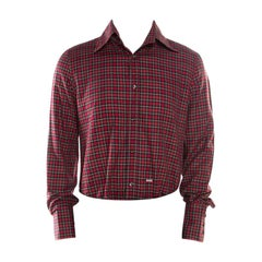 DSquared2 Red Checked Cotton Long Sleeve Shirt XXL