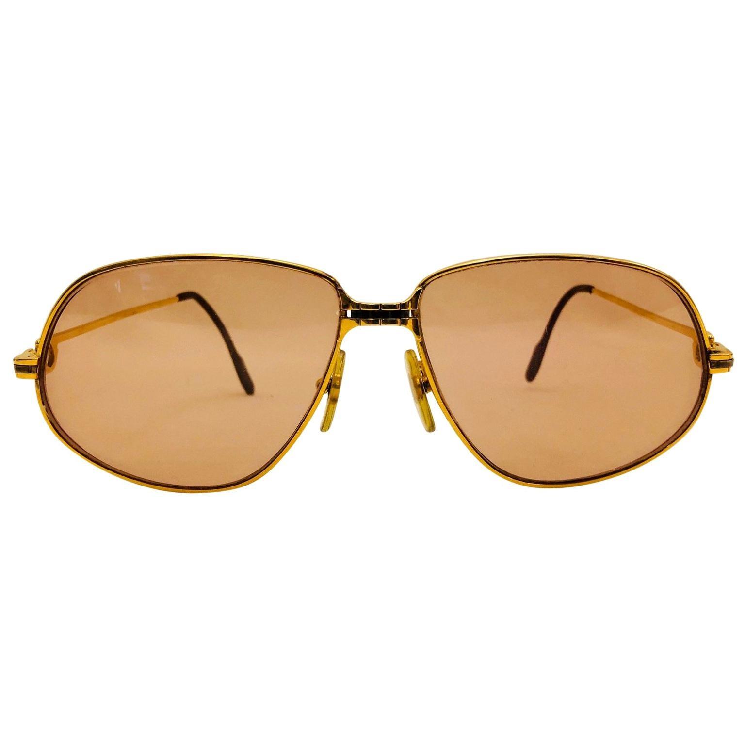 Cartier Vintage Panthere GM Sunglasses 59 14, 1988