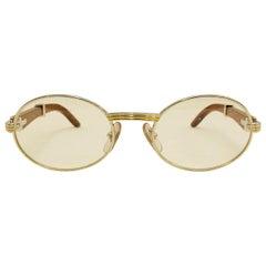 84d98ed99a Vintage Cartier Giverny Palisander 18K Gold   Rosewood Glasses 51 20
