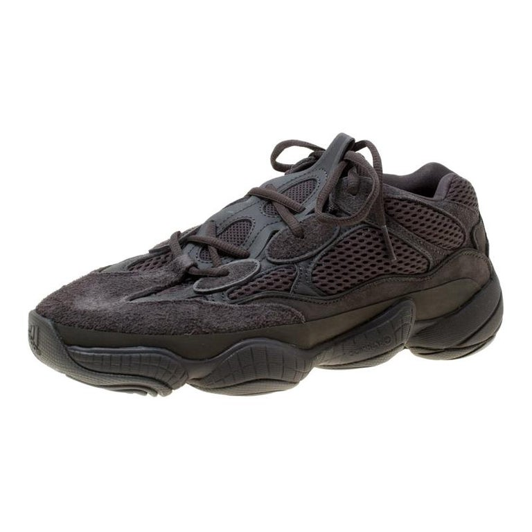 sale retailer ad85f 887a3 Yeezy x Adidas Utility Black Mesh And Suede 500 Desert Rat Sneakers Size 42