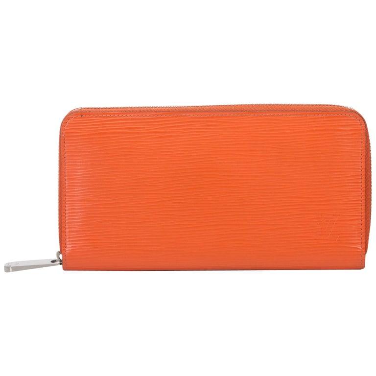 3afd1849a248 Louis Vuitton Orange Epi Leather Leather Epi Zippy Wallet France For Sale