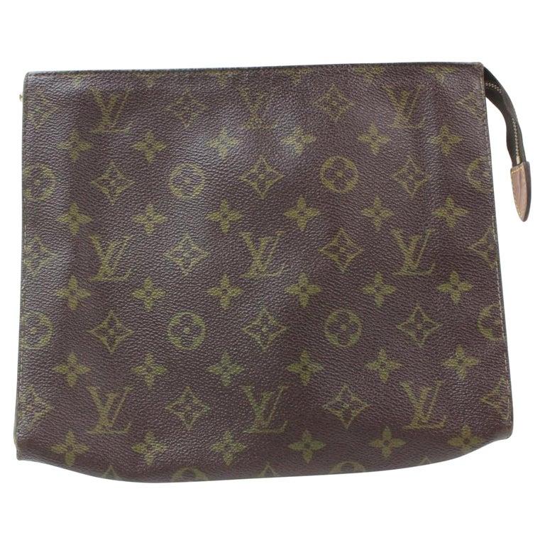 5e8e250ac9c3 Louis Vuitton Brown Poche Monogram Toiletry Pouch 26 Toilette 869587  Cosmetic Ba For Sale