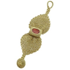 Gold Color Thread Red Coral Vintage Victorian Classic Fine Jewelry Bracelet