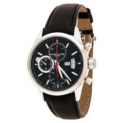 Raymond Weil Black Stainless Steel  7730 Chronograph Men's Wristwatch  42 mm