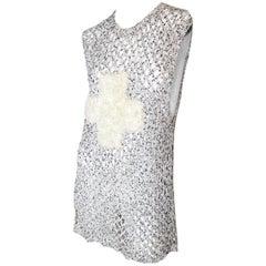 1980s BOY of London Crochet Cross Knit Dress