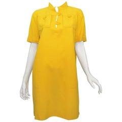 1970's Courreges Vintage Yellow Dress
