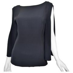 Christian Dior Silk Blouse with Cut Sleeves