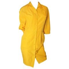 Thierry Mugler Orange Dress with Circle Pockets