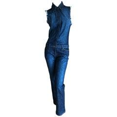Roberto Cavalli for Just Cavalli Dark Denim Jump Suit