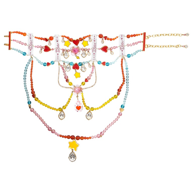 Christian Dior by John Galliano Couture chandelier choker necklace, ca. 2001 For Sale