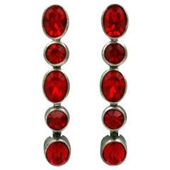 YSL Ruby Oval Drop Earrings