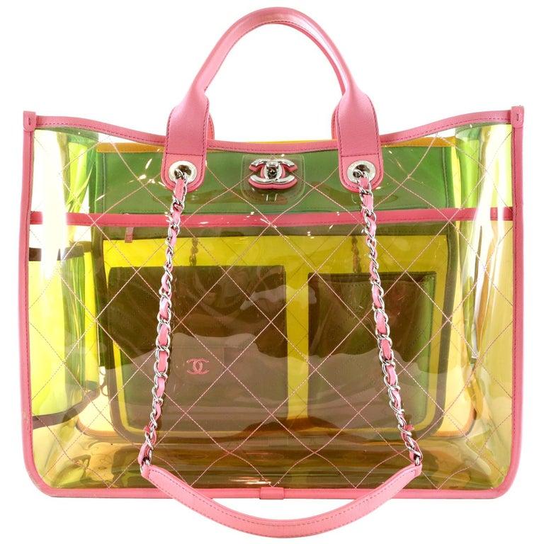 0441cbdff321 Chanel COCO Splash Multicolor PVC Shopper Tote For Sale at 1stdibs