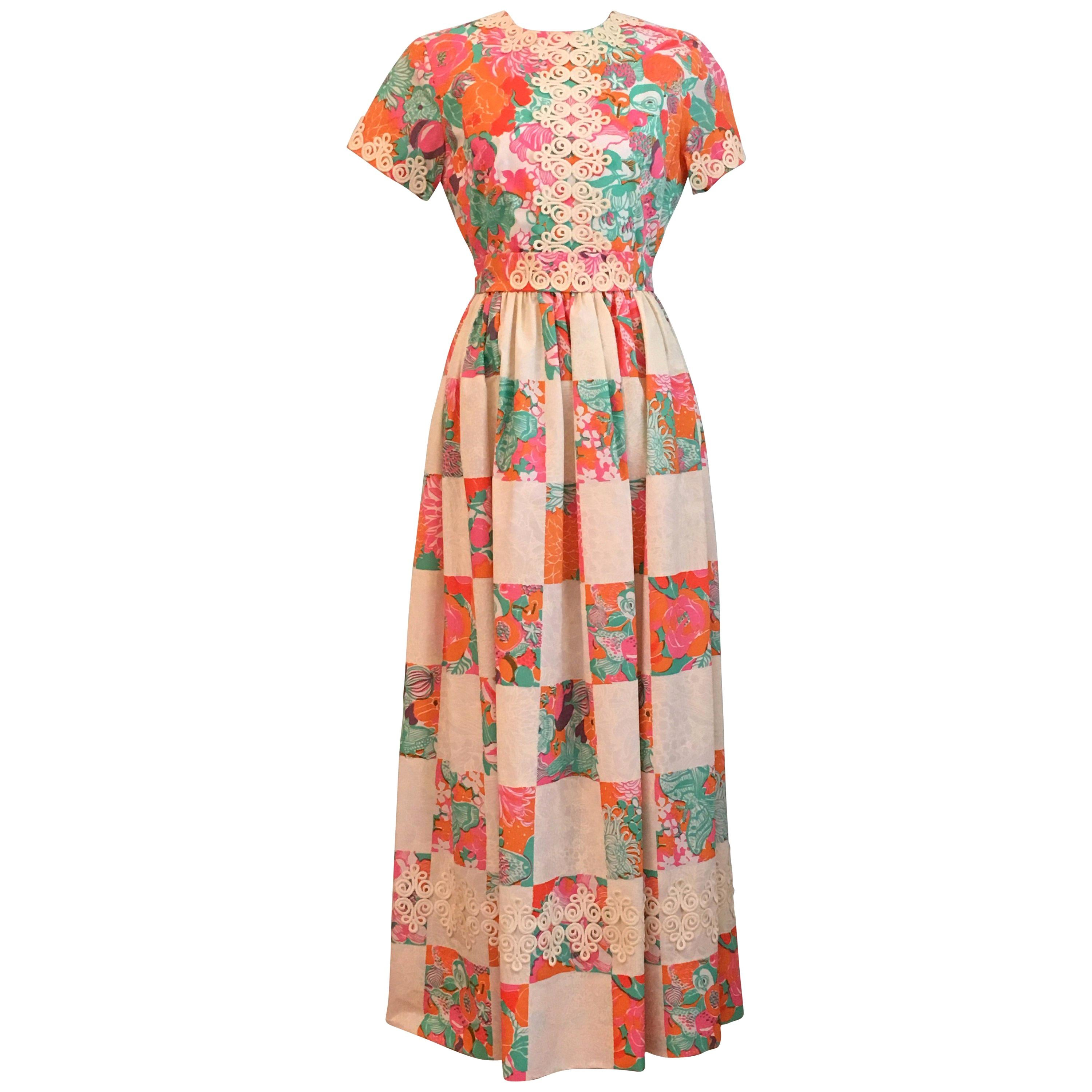 32a643fa669 Lilly Pulitzer Fruit and Floral Print Maxi Dress