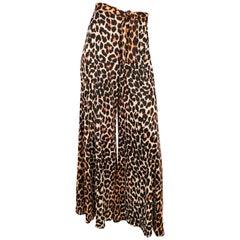 1970's Joseph Magnin Cheetah Printed Pants