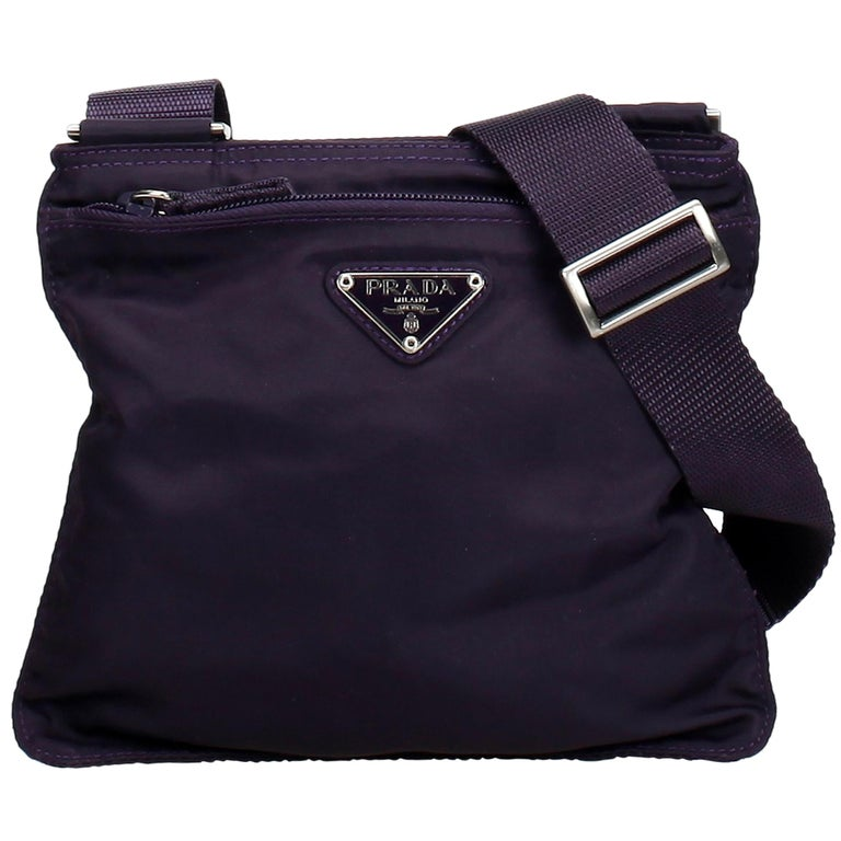 c3214e2e502 Prada Black Nylon Fabric Crossbody Bag Italy at 1stdibs
