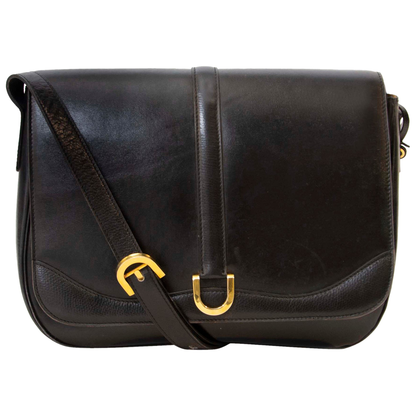 Delvaux Black Box Calf Cross Body Bag