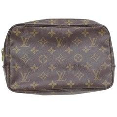 1fa1603a603d Louis Vuitton Brown Trousse Monogram Toilette 23 Pouch 869184 Cosmetic Bag