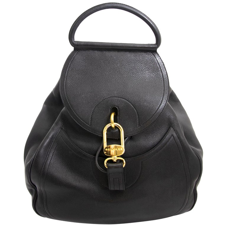 2cfff6d3b73a Delvaux Black Lucifer GM Backpack For Sale at 1stdibs