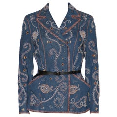 Dior 2018 Embroidered Double Denim Jacket