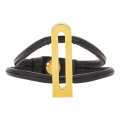 Delvaux Black Leather Gold D Bracelet