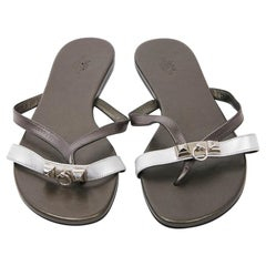 0ba7bd7631e Hermes Paris Royal Loafer Shoes Calfskin Colour White Palladium ...