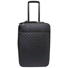 LOUIS VUITTON Pegase Cabin Suitcase in Graphite Checkered Fabric