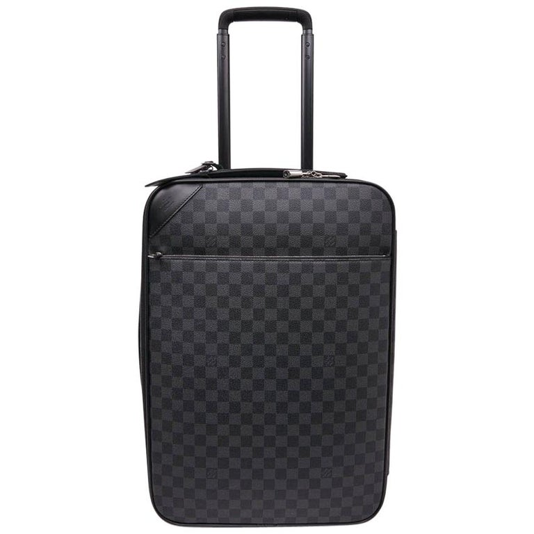 239bb266d LOUIS VUITTON Pegase Cabin Suitcase in Graphite Checkered Fabric For Sale