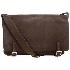 Delvaux Brown Nubuck Trotteur Messenger Bag