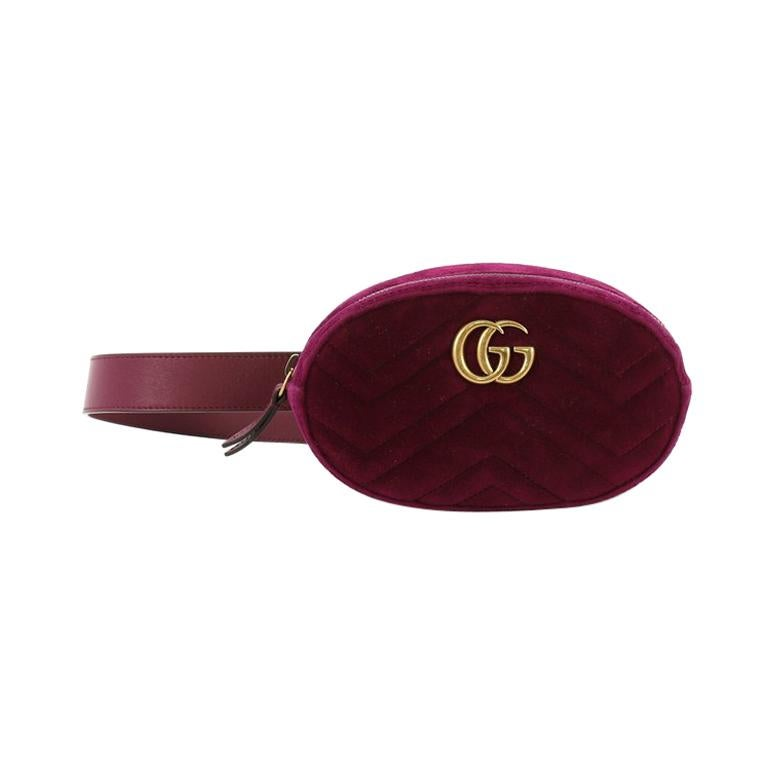 f8cd2dfd9b17 Gucci GG Marmont Belt Bag Matelasse Velvet For Sale at 1stdibs