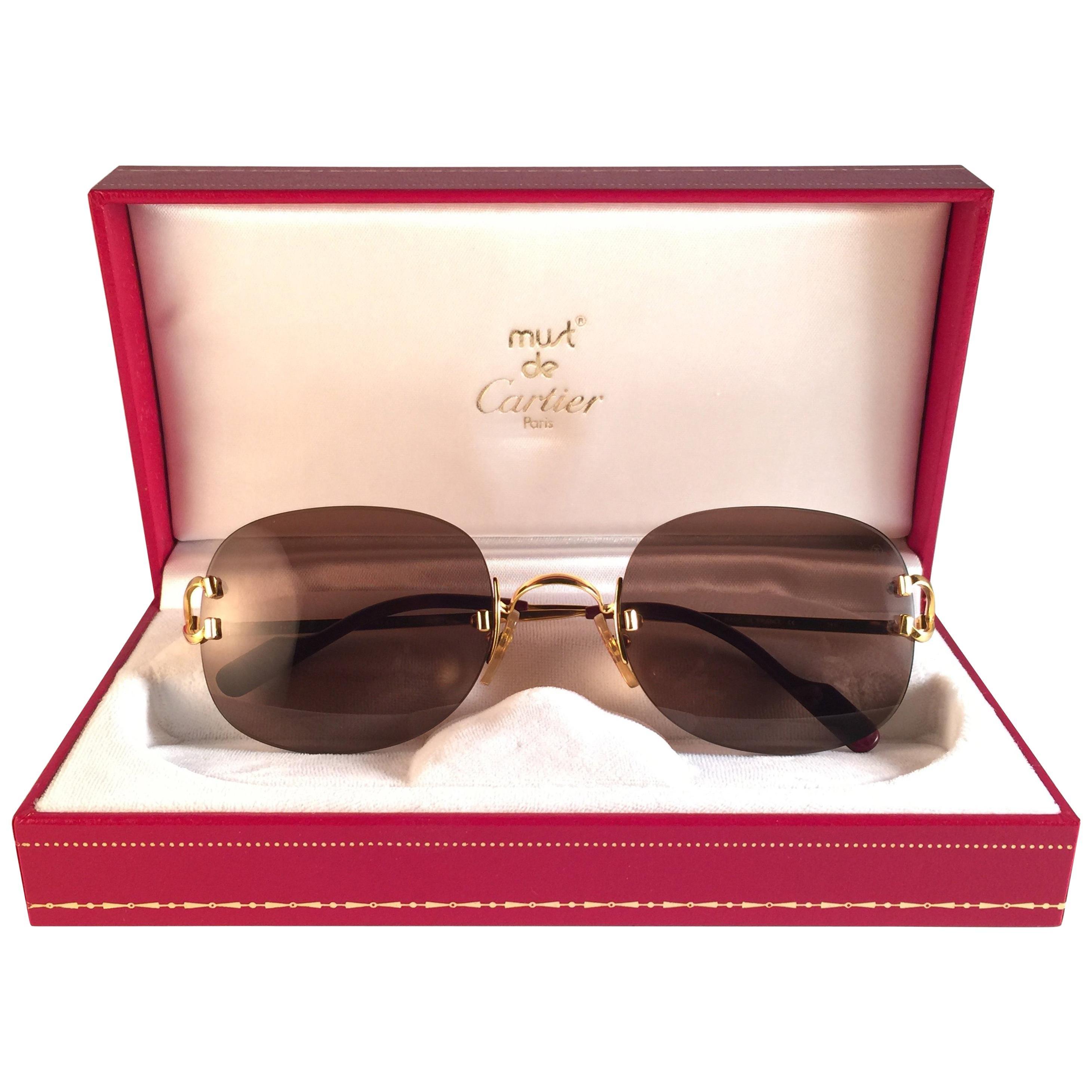 438576d93379 Vintage Cartier Sunglasses - 158 For Sale at 1stdibs