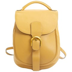 Delvaux Yellow Brillant Backpack