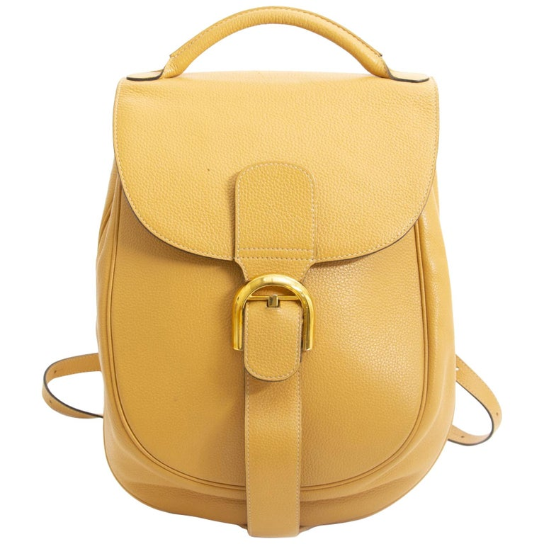 06067fd1707f Delvaux Yellow Brillant Backpack For Sale at 1stdibs